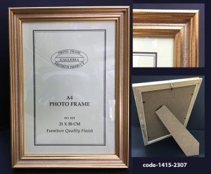 30 cm Gold Picture Ready Made Frame